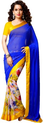 ambey shree trendz Woven Bandhej Synthetic Sari