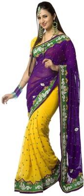 Cozee Shopping Embriodered Fashion Chiffon Sari