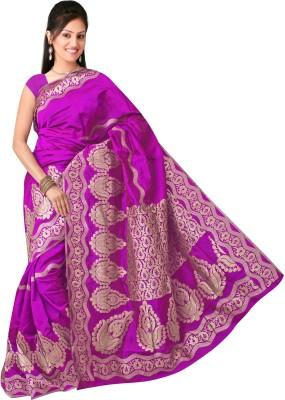 Sparkel Collection Floral Print Banarasi Jacquard Sari