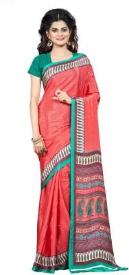 Fabdeal Printed Daily Wear Crepe Sari