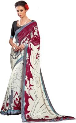 Zemi Graphic Print Fashion Crepe Sari