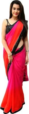 EthnicBasket Self Design Fashion Georgette Sari