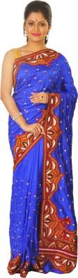 Sayani Boutique Self Design Kantha Raw Silk Sari
