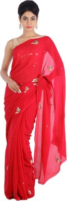 Geroo Embriodered Fashion Chiffon Sari
