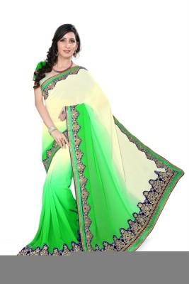 Sareeka Sarees Plain, Embriodered Fashion Pure Georgette Sari