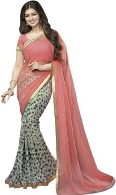 Aaradhya Fashion Printed Fashion Pure Georgette Sari