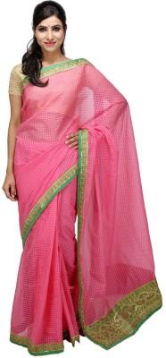 KALYANAM Checkered Maheshwari Cotton Sari