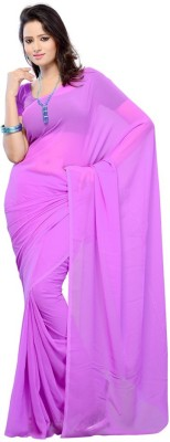 Shagun Prints Solid Daily Wear Chiffon Sari