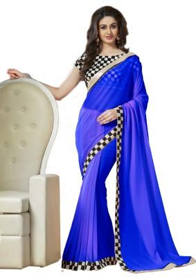 Nisha Creation Plain Fashion Georgette Sari