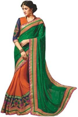 ambey shree trendz Plain Shalu Georgette Sari