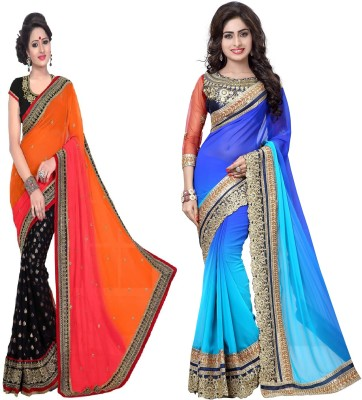Ujjwal Creation Embriodered Fashion Georgette Sari