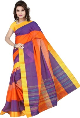 Mohta Fashions Plain Fashion Silk Cotton Blend Sari