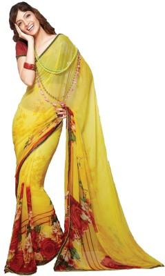 365 Labels Floral Print Fashion Georgette Sari
