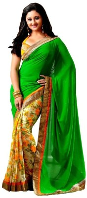 Imperialdeal Embriodered Bollywood Georgette Sari
