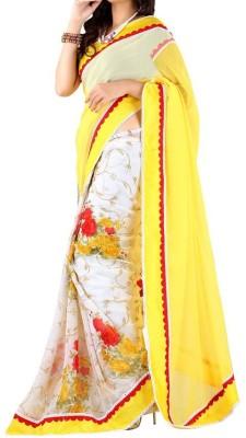 Shreesaimart Floral Print Daily Wear Georgette Sari