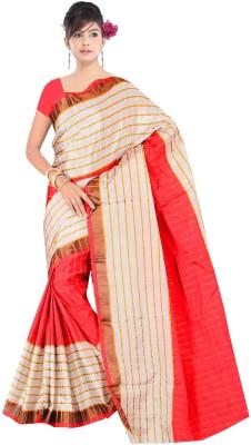 JAY GOPAL Geometric Print Bhagalpuri Cotton Sari