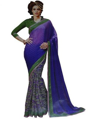 AnithaFashions Self Design Fashion Georgette Sari