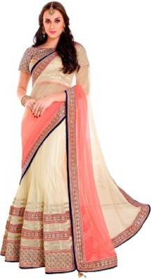 Shriradheysarees Self Design Lehenga Saree Net Sari