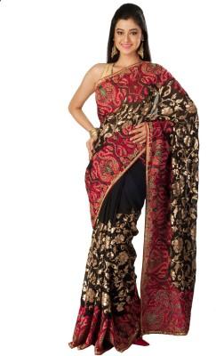 Tulaasi Embriodered Mysore Net Sari