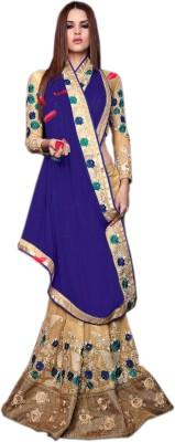 mGm Creation Self Design Fashion Chiffon, Georgette Sari