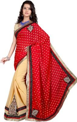Aryansh Designers Self Design Bollywood Georgette Sari