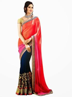 Lucky Fashion Self Design Bollywood Georgette Sari