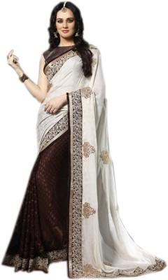 Shoppingover Embriodered Bollywood Handloom Satin Sari