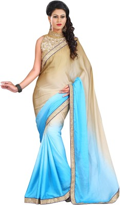 Vimbafashion Plain Fashion Handloom Satin Sari