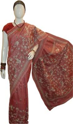 Krishnakali Boutique Embriodered Kantha Pure Silk Sari