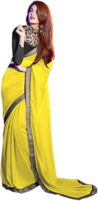 Dertaste Plain Fashion Georgette Sari
