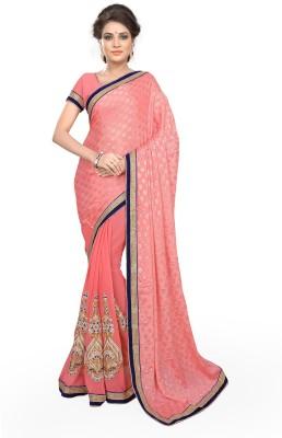 Sourbh Sarees Embriodered Fashion Jacquard, Georgette Sari