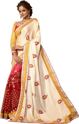 Renuja Embriodered Fashion Satin Sari
