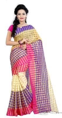 KhushPreet Self Design Assam Silk Polycotton Sari