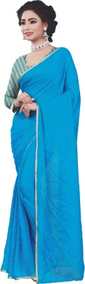 Lata Solid, Plain, Embriodered Bollywood Silk Sari