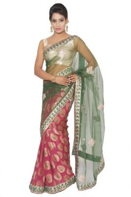 Vibhuti Sarees Self Design Fashion Khadi Sari