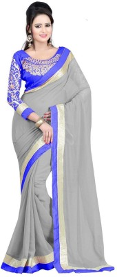 Angel Retail Embriodered Bollywood Chiffon Sari