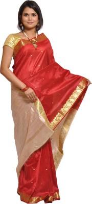 Thamaraigrandies Solid Fashion Art Silk Sari