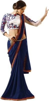 Khantil Plain Fashion Chiffon Sari