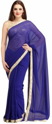 Polestar Solid Bollywood Georgette Sari