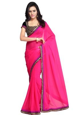 BK FASHION Self Design Bollywood Georgette Sari