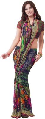 Cenizas Floral Print Fashion Chiffon Sari
