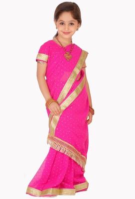 SareeGalaxy Self Design Fashion Georgette Sari