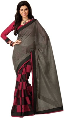 Sixmeter Printed Fashion Silk Sari