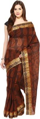 Tanisha Self Design Bollywood Jacquard Sari