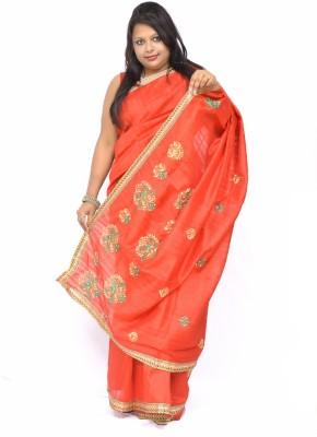 Gulmohaar Embriodered Bollywood Raw Silk Sari