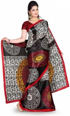 Violet Fashion Printed Daily Wear Art Silk Sari