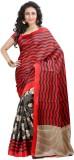 Aahira Printed Bhagalpuri Silk Sari (Red...