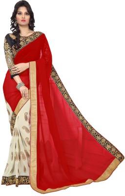 B W Embriodered Bollywood Georgette Sari