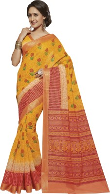divyshree Floral Print Mysore Art Silk Sari