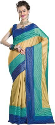 La,ethnic Geometric Print Fashion Art Silk Sari